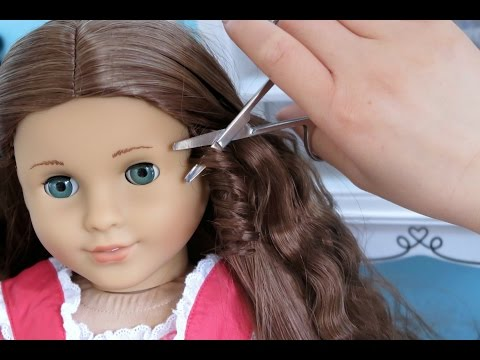 American Girl Doll Customization ~ Straightening, Haircut, Hairstyle!