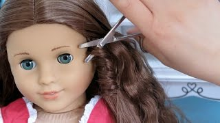American Girl Doll Customization ~ Straightening, Haircut, Hairstyle!