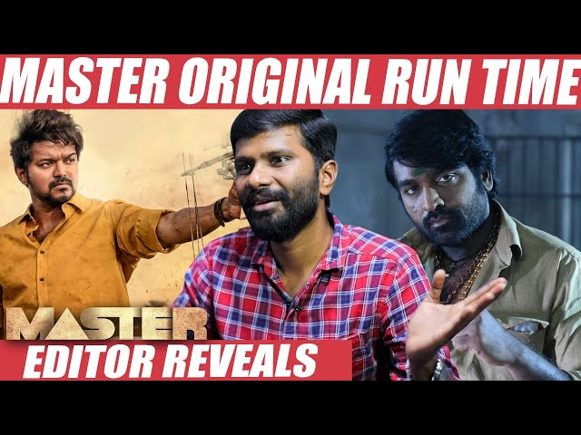 Can Vijay's Master Justify 3 hours Runtime? - Editor Philomin Raj