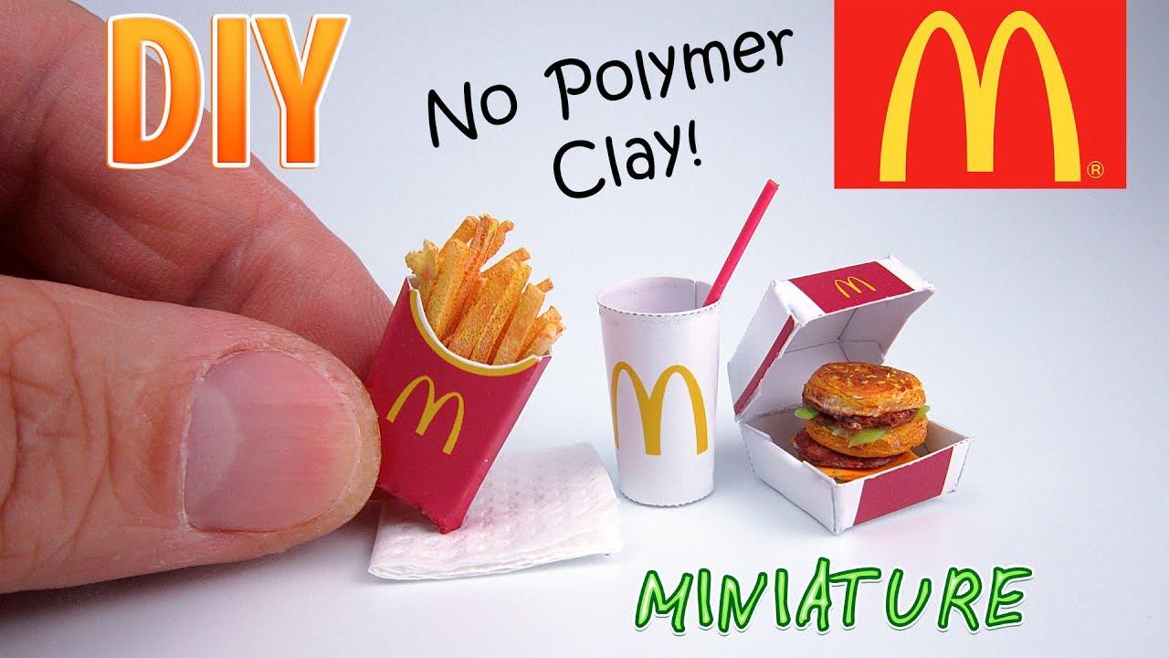Diy miniature mcdonalds food menu dollhouse no polymer clay diy miniature mcdonalds food menu dollhouse no polymer clay publicscrutiny Image collections