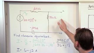 AC Thevenin أي ما يعادل الدائرة المشكلة