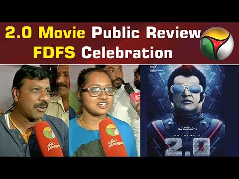 2.0 Movie Public Review | FDFS Celebration | The Robot 2.O #Rajinikanth #Akshay Kumar