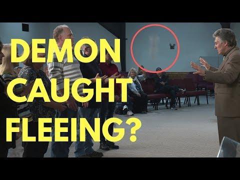 Demon Caught Fleeing On Video? - Mel Bond Prays - What Flew Away?