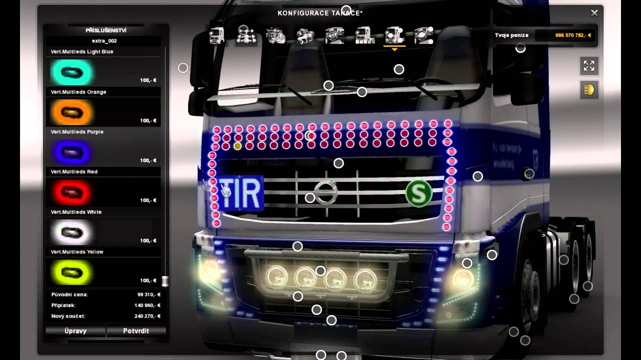 Euro Truck Simulator 2 Volvo FH Tuning mod - YouTube