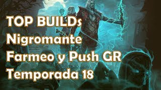 Diablo 3 Temporada 18 Top build Nigromante farmeo y GR