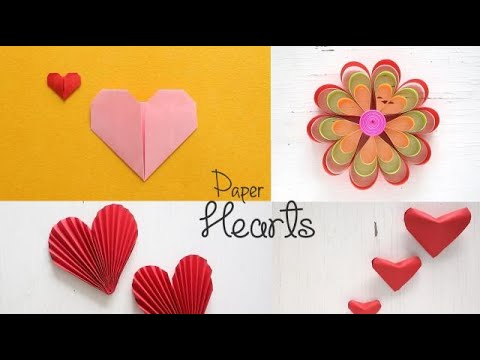 DIY Paper Hearts Tutorial  Valentines DIY  Paper Crafts  Ventuno Art