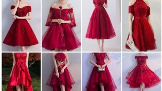 #perfectfashionstyle  Party wear red dresses | Red Color short frock | Red dresses designs 💞💞