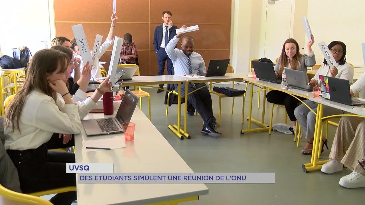 Yvelines | UVSQ : Des étudiants simulent une réunion de l'ONU