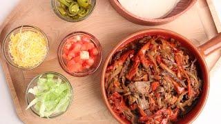 crock pot beef fajitas recipe laura vitale laura in the kitchen episode 877