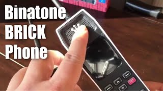 Binatone The Brick 80's retro Motorola style GSM Sim-Free bluetooth mobile phone review