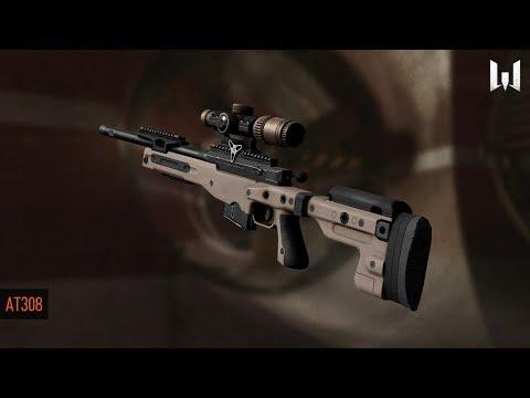 Warface (скрытый HUD) Игра со снайперской винтовкой  AT 308