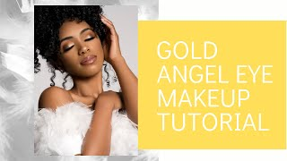 GOLD ANGEL EYE MAKEUP: EYESHADOW TUTORIAL| Samira Iman