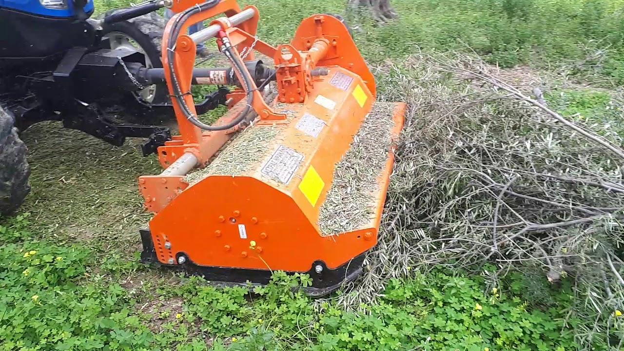New Holland t4050f front pto mulcher