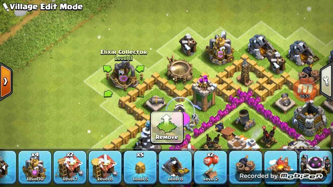 Th7 Hybrid Base Without Barbarian King Dark Barracks Youtube