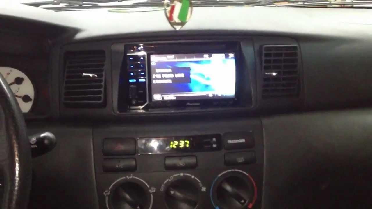 Toyota Corolla 2004 With Pioneer Avh-3300bt