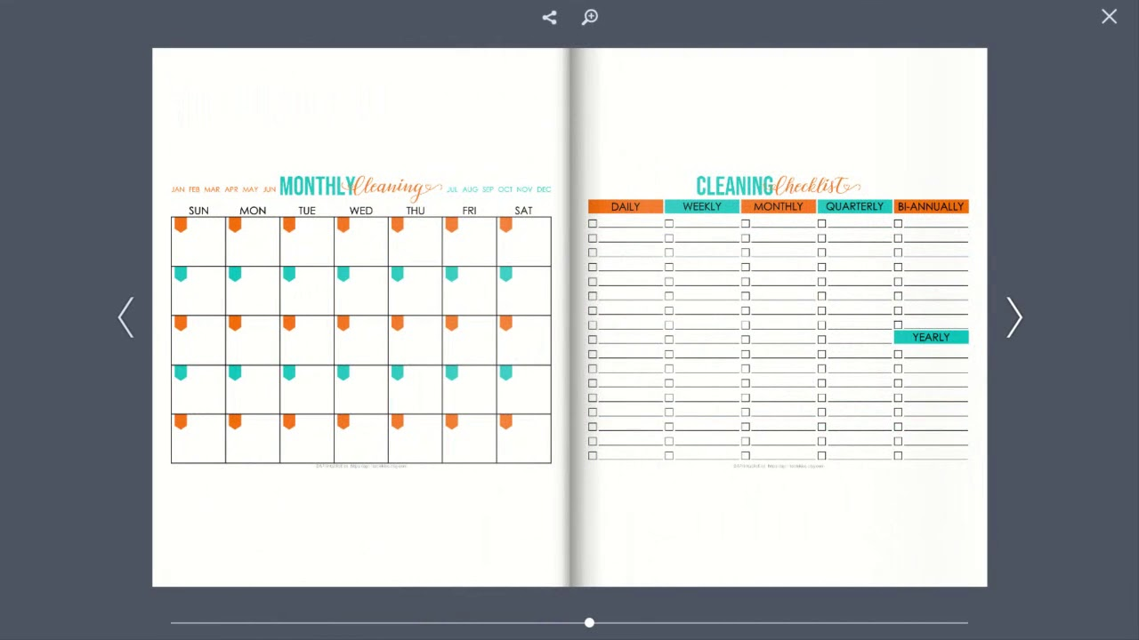 Cleaning Binder Preview - 34 Pages