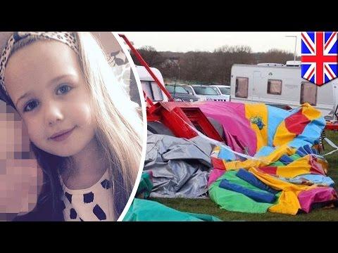 gadis kecil tewas tertiup angin dalam kastil tiup - Tomonews Mp3