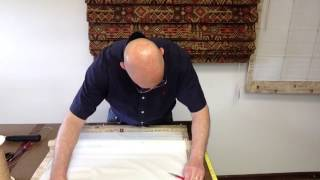 How to string a Roman Shade