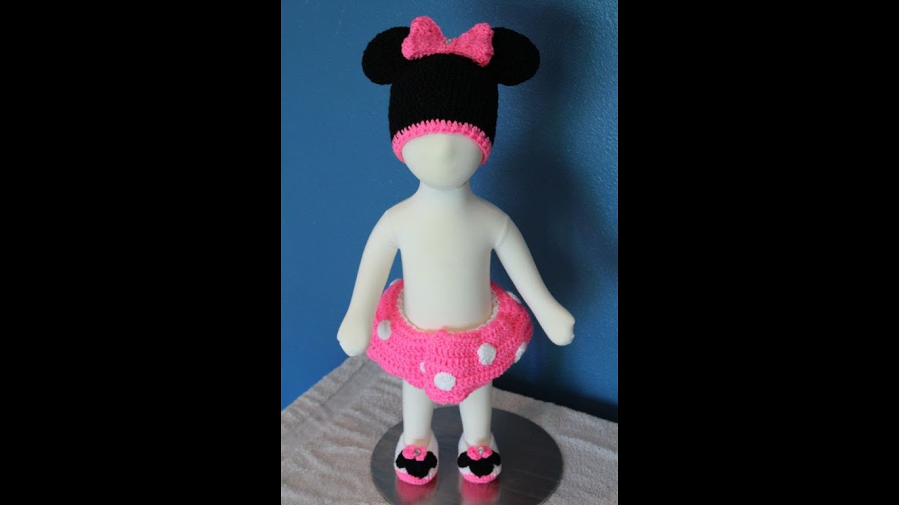 Tutorial How To Crochet Minnie Mouse Baby Outfit Part 3 Minnie Mouse