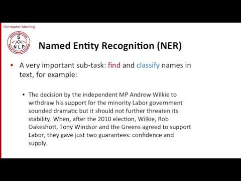 9   1   Information Extraction and Named Entity Recognition  Introducing the tasks 9 18