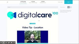 Scheduled Messages Tab with digitalcare100