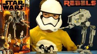 Лего Звёздные Войны Повстанцы 75083 + Мультики. Обзор на русском языке. Star Wars AT-DP
