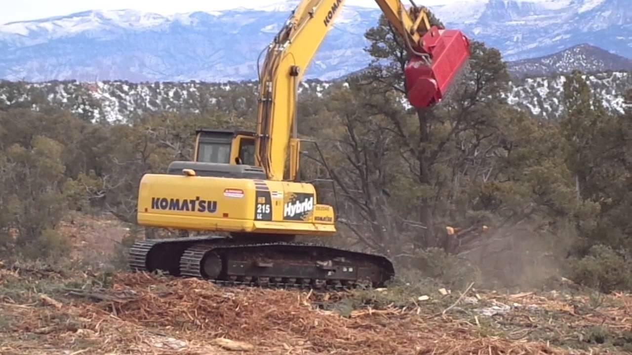 Excavator Mulching Machine - BH80 Bull Hog Mulching Head