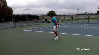 فيديو: نقطة ساحرة لديوكوفيتش في تدريبات التنس