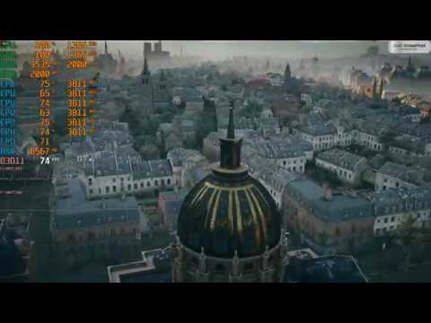 I5 8400 RX580 8GB Crossfire Assassin's Creed Unity 1080p Maxout 4XMSAA