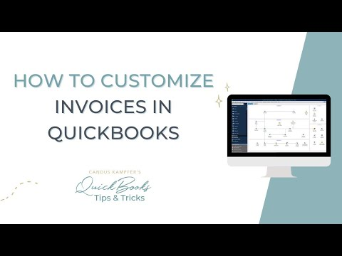 How To Customize Invoices In Quickbooks Youtube