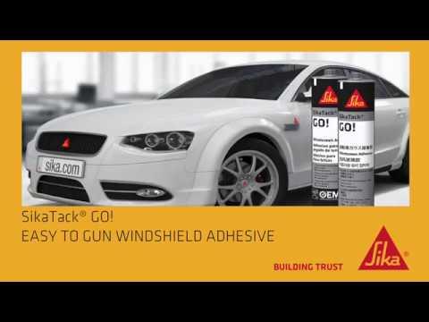 SikaTack GO! - Easy to gun windshield adhesive - FMVSS 212 Crash Test Video