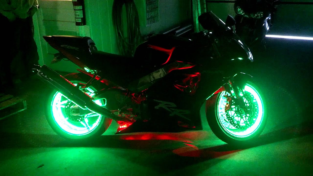 MOTORCYCLE WHEEL LIGHT KIT - YouTube
