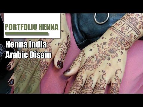 Contoh Henna tangan pengantin cantik
