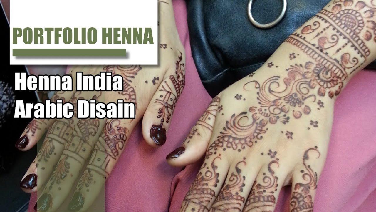 Contoh Henna Tangan Pengantin Cantik Youtube