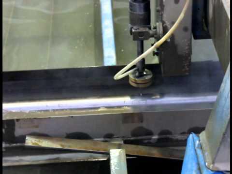 Гидроабразивная резка труб