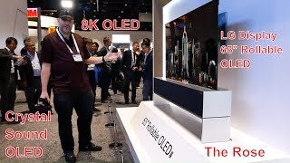 LG Display 65'' Rollable OLED, 88'' 8K OLED, 8K Crystal Sound OLED, The Rose