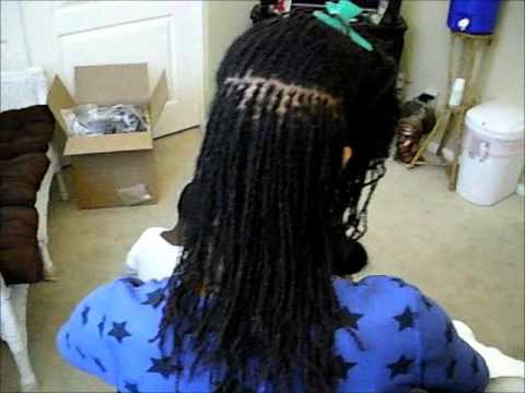 Sisterlocks Retightening Natural Hair And Styled In