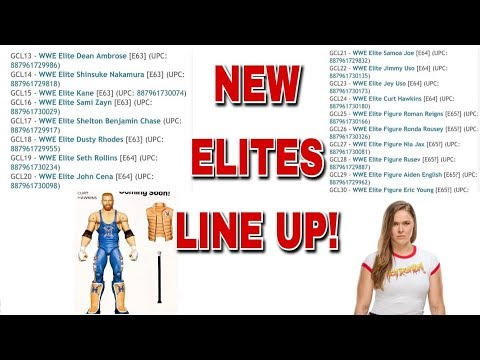 LEAKED WWE ELITE 63, 64, 65 + TON OF NEW UPCOMING ELITE FIGURES!