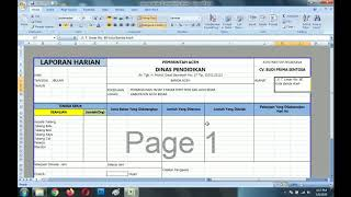 Cara Membuat Laporan Harian Proyek Gratis File Sofcopy Nya Excel Youtube