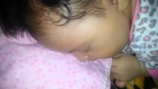 6 weeks old and she is sooo snoring!