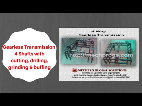 Gearless Transmission 4 shafts work station (Cutting, Drilling,grinding & buffing on single motor)