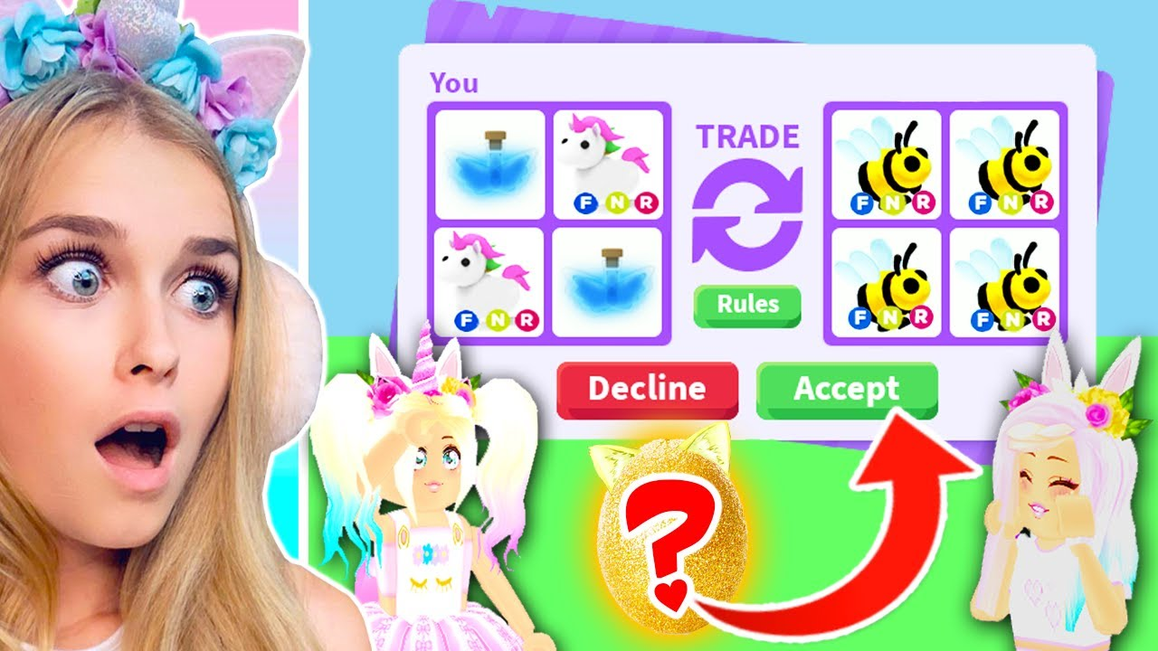 Mystery Eggs Decide What We Trade Eachother In Adopt Me Roblox