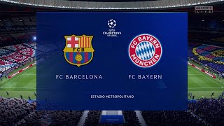 Fifa 20 | barcelona vs bayern munich (quarter final) - uefa champions league 2020 full match & gameplay(prediction) please follow me on: twitter:- https://...