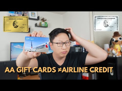 PSA: American Airlines Gift Cards ≠ Airline Credit (Amex Plat, Amex Gold, CNB Crystal)