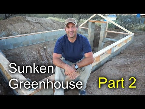 Sunken Greenhouse Part 2 Block Concrete And Subframe Youtube