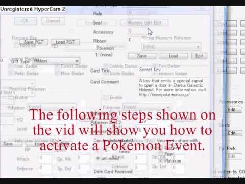 Pokemon Platinum Pokesav Event Editing (getting All Mystery Gifts)
