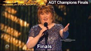 Susan Boyle sings I Dreamed a Dream Simon Gets Nostalgic | America's Got Talent Champions Finals AGT