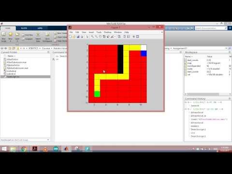Coursera: Computational Motion Planning, Dijkstra's algorithm