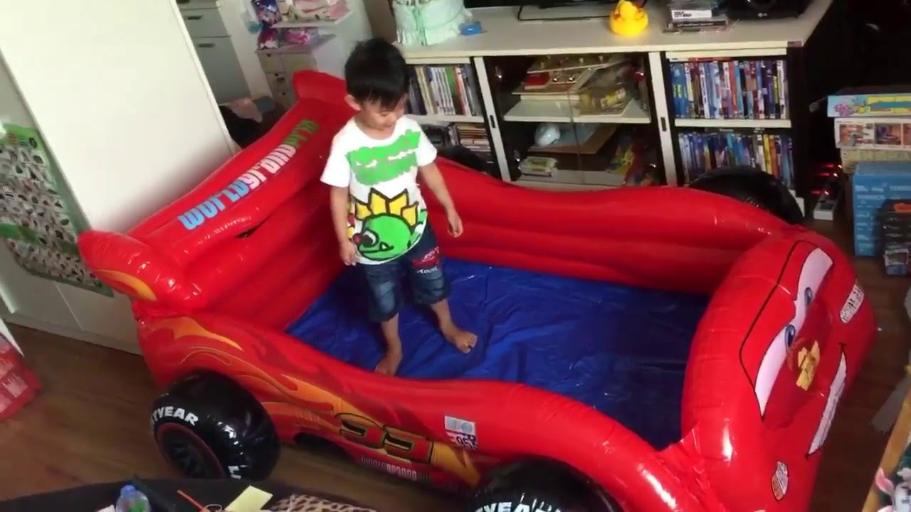 Lightning Mcqueen Inflatable Pool Youtube