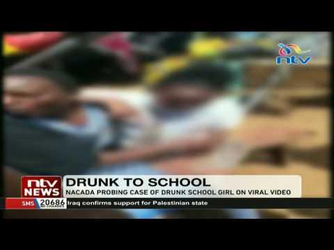 NACADA probing case of a drunk school girl on viral video thumbnail